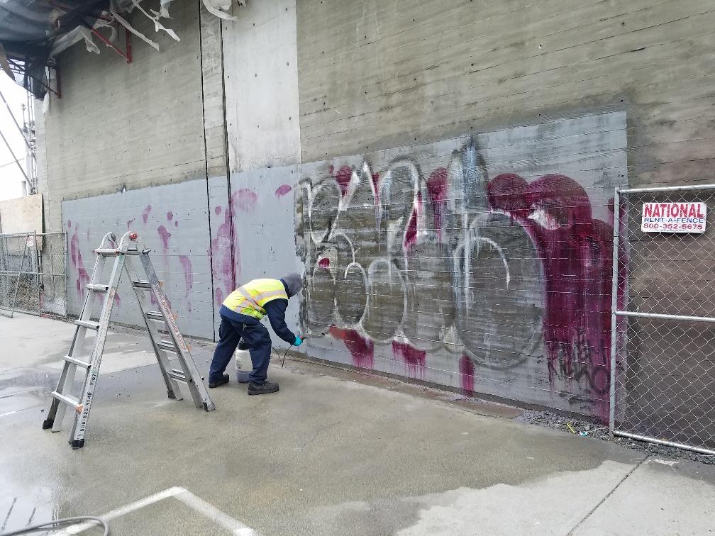 San francisco graffiti removal Before